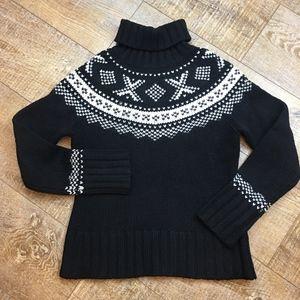 Gap Wool Chunky Fair Isle Turtleneck Sweater XS